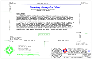 Boundary Survey Example