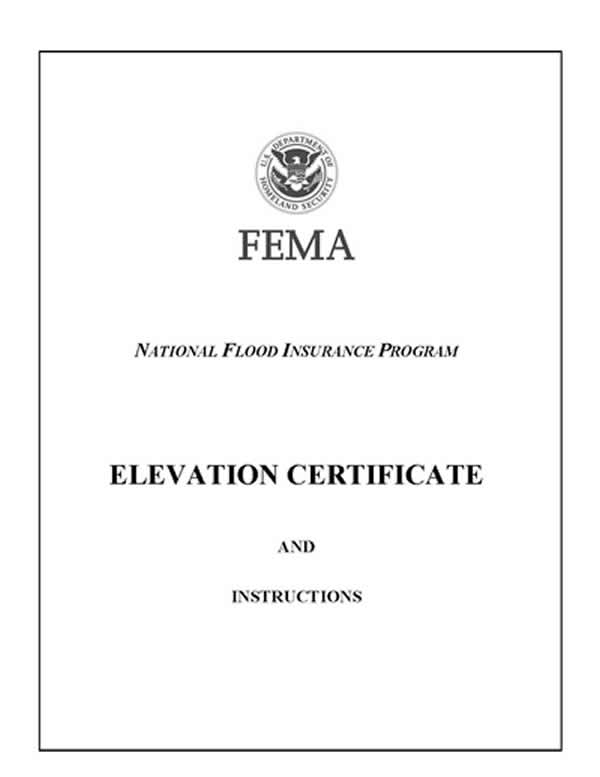 Lowest Floor Elevation Fema Form : Elevation certificate flood survey