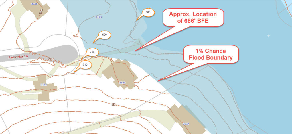 GIS with Flood Hazard Zone Overlay